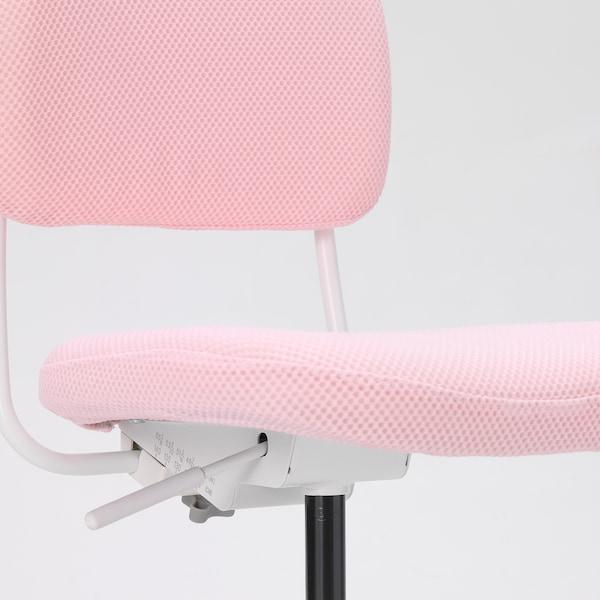 VIMUND children's desk chair light pink 110 kg 62 cm 59 cm 86 cm 41 cm 37 cm 38 cm 51 cm
