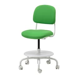 VIMUND children's desk chair, bright green