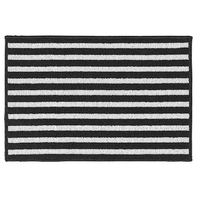 VINSTRUP Door mat, black/grey, 40x60 cm