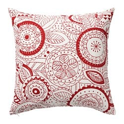 VINTER 2019 cushion cover, white, red
