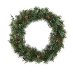VINTERFEST artificial wreath, in/outdoor, green