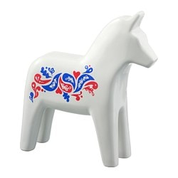 VINTERFEST decoration, horse, ceramic, white