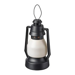VINTERFEST LED decoration lighting, battery-operated in/outdoor, lantern black