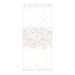 VINTERFEST tablecloth, patterned, white/gold-colour