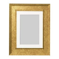 VIRSERUM frame, gold-colour