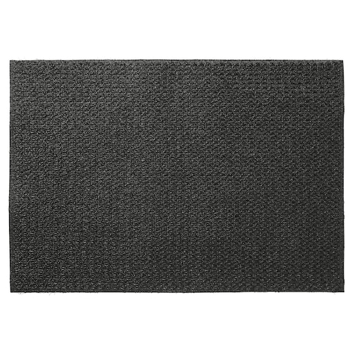 VISKINGE door mat in/outdoor black 90 cm 60 cm 0.54 m²