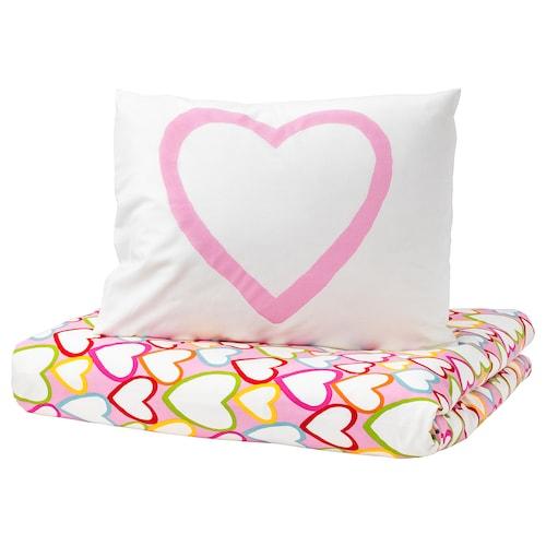 VITAMINER HJÄRTA quilt cover and pillowcase multicolour 200 cm 150 cm 50 cm 80 cm