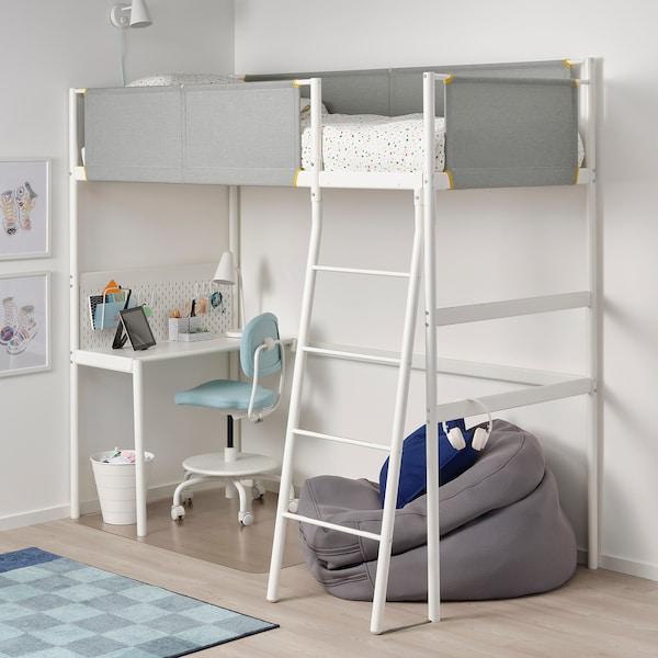 Vitval Loft Bed Frame With Desk Top