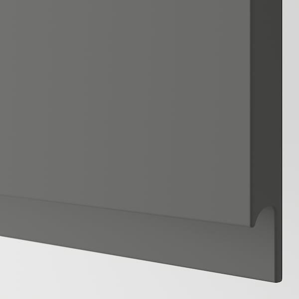 VOXTORP 2-p door f corner base cabinet set right-hand dark grey 25.3 cm 80.0 cm 25.0 cm 79.7 cm 2.1 cm