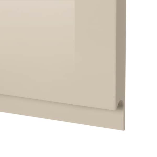 VOXTORP Door, high-gloss light beige, 60x40 cm