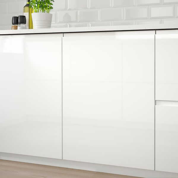 VOXTORP Door, high-gloss white, 40x70 cm