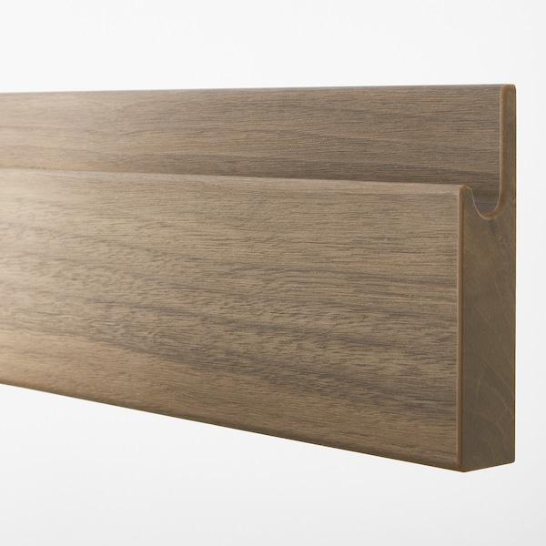 VOXTORP drawer front walnut effect 59.6 cm 10.0 cm 60.0 cm 9.7 cm 2.1 cm