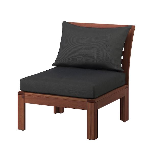 阿普莱诺 休闲椅,户外, 着褐色漆/哈露 黑色, 63x80x78 厘米