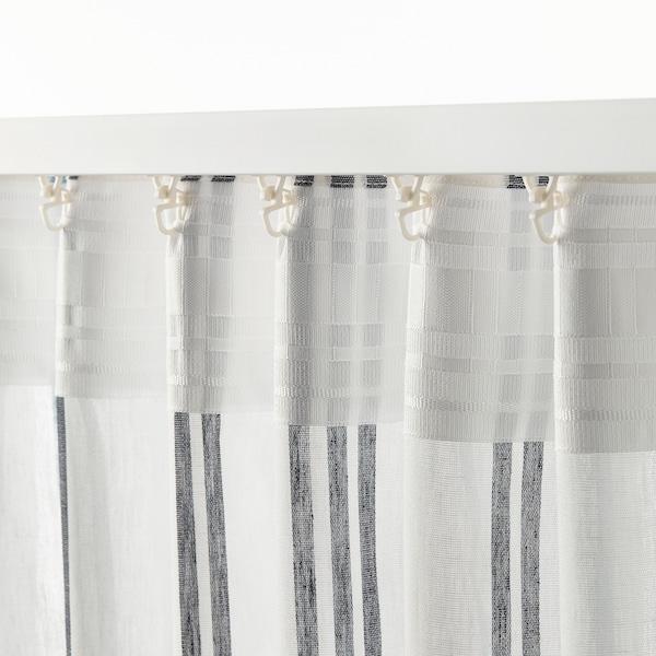 ÄDELSPINNARE 窗帘,2幅 白色/条形图案 250 厘米 145 厘米 1.08 公斤 3.63 平方米 2 件