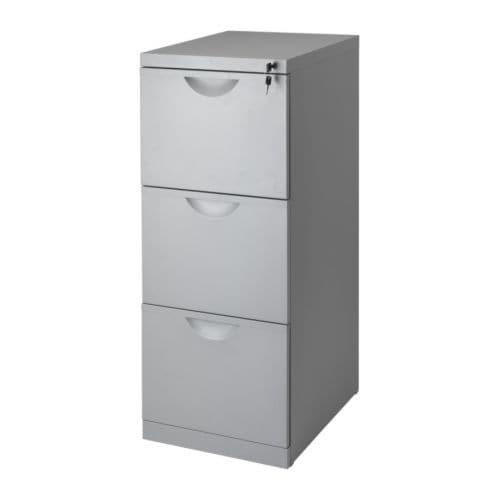 Eric Картотека IKEA 用于存放文件夹的抽屉,方便整理和存放重要文件。 可上锁,安心放置您的私人物品。 抽屉带有制动装置,可将抽屉固定在位。