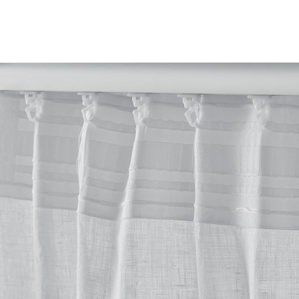 艾纳 窗帘,2幅 白色 250 厘米 145 厘米 1.64 公斤 3.63 平方米 2 件