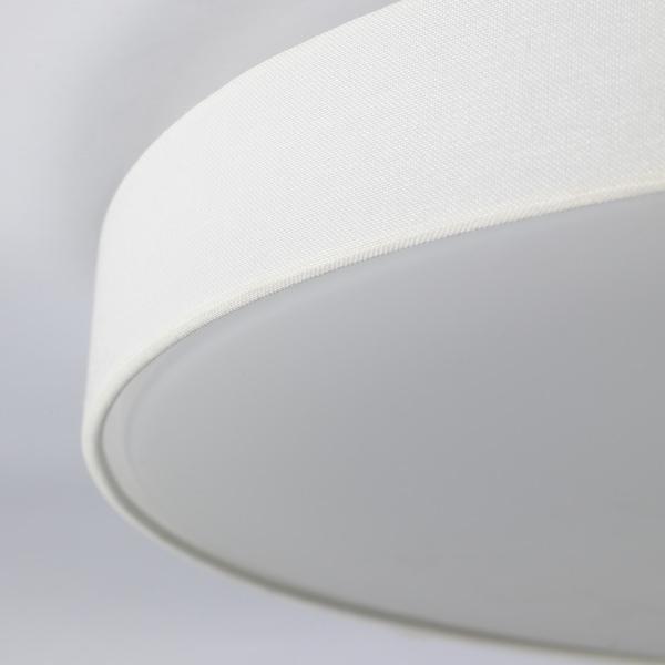 阿伯雅 LED吸顶灯 圆形/纺织品 白色 2700 开尔文 3000 流明 10 厘米 60 厘米