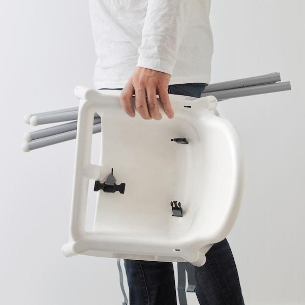 安迪洛 高脚椅, 白色/银色