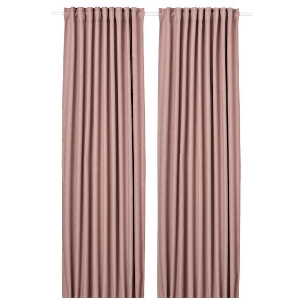安娜卡萨 窗帘,一对 粉红色 250 厘米 145 厘米 3.36 公斤 3.63 平方米 2 件
