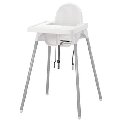 ANTILOP 安迪洛 高脚椅, 白色/银色