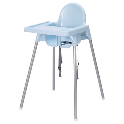 安迪洛 高脚椅 浅蓝色/银色 56 厘米 62 厘米 90 厘米 25 厘米 22 厘米 54 厘米 15 公斤