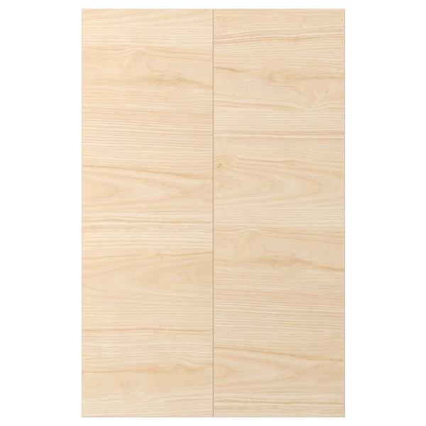 ASKERSUND 阿斯克松 转角底柜门2件, 浅白蜡木纹, 25x80 厘米