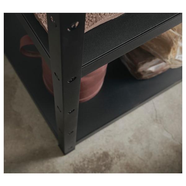 巴拉 3段组合/搁板, 黑色, 234x55x110 厘米