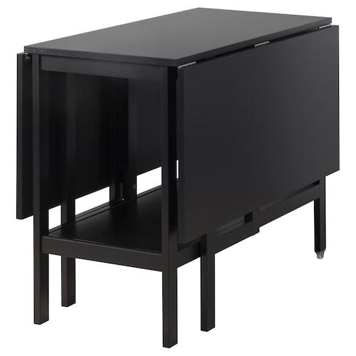 巴斯维金 翻板桌 黑色 90 厘米 45 厘米 135 厘米 93 厘米 74 厘米