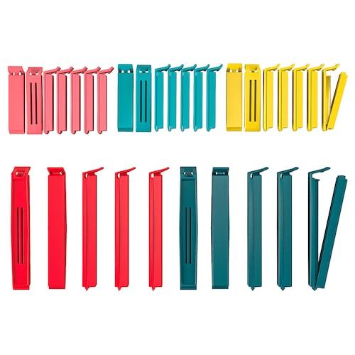 贝瓦拉 封口夹,30件套, 多色/混合尺寸