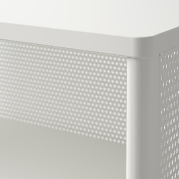 BEKANT 贝肯特 储物单元含脚轮, 丝网 白色, 61x101 厘米