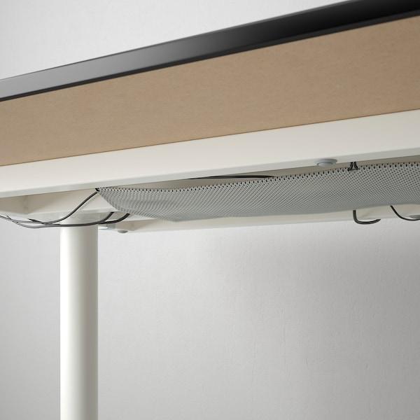BEKANT 贝肯特 书桌, 黑色白蜡木贴面/白色, 160x80 厘米