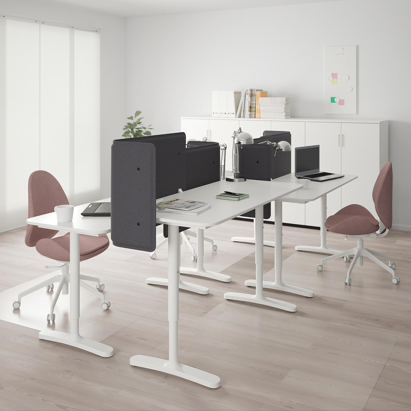 BEKANT 贝肯特 书桌组合, 白色, 280x120 厘米