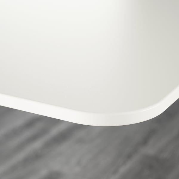 BEKANT 贝肯特 坐/站两用式办公桌, 白色, 120x80 厘米