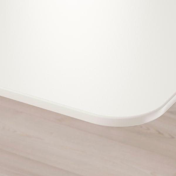 BEKANT 贝肯特 坐/站两用式转角办公桌左, 白色, 160x110 厘米