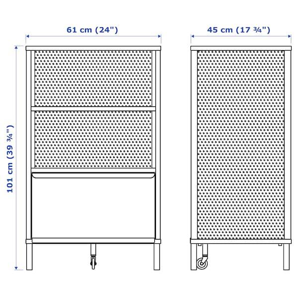 贝肯特 带锁储物单元 丝网 白色 61 厘米 45 厘米 101 厘米