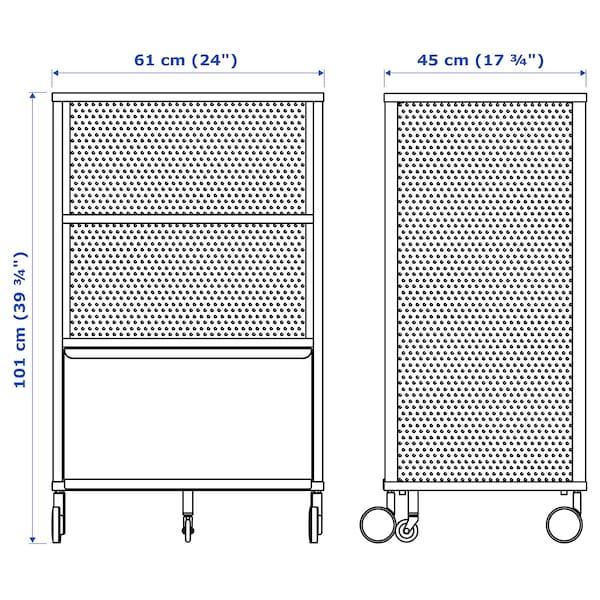 贝肯特 带锁储物单元 丝网 黑色 61 厘米 45 厘米 101 厘米