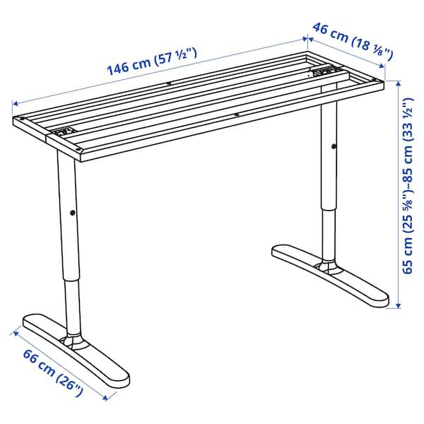贝肯特 桌面底架 白色 46 厘米 146 厘米 160 厘米 80 厘米 65 厘米 85 厘米 100 公斤