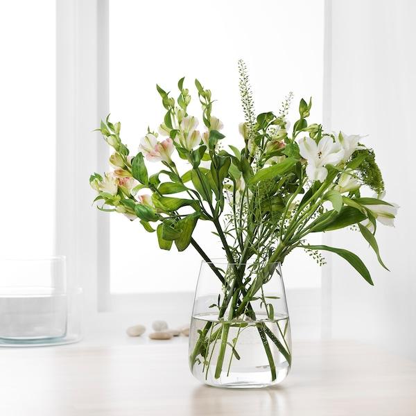 比莱纳 花瓶 透明玻璃 18 厘米