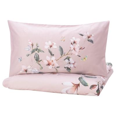 BERGBRÄKEN 巴利贝 被套和2个枕套, 粉红色/花卉图案, 200x230/50x80 厘米
