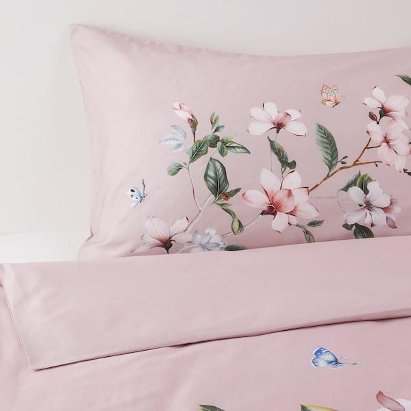 巴利贝 被套和2个枕套 粉红色/花卉图案 310 Inch² 2 件 230 厘米 200 厘米 50 厘米 80 厘米