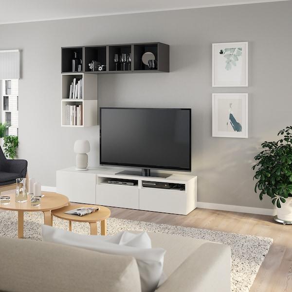 贝达 / 伊克特 电视柜组合 白色/浅灰色/深灰色 70 厘米 180 厘米 40 厘米 170 厘米