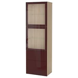颜色: 仿白色橡木纹 赛维肯/深红褐色 透明玻璃.