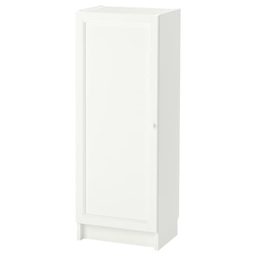 毕利 / 奥克伯 带门书柜, 白色, 40x30x106 厘米