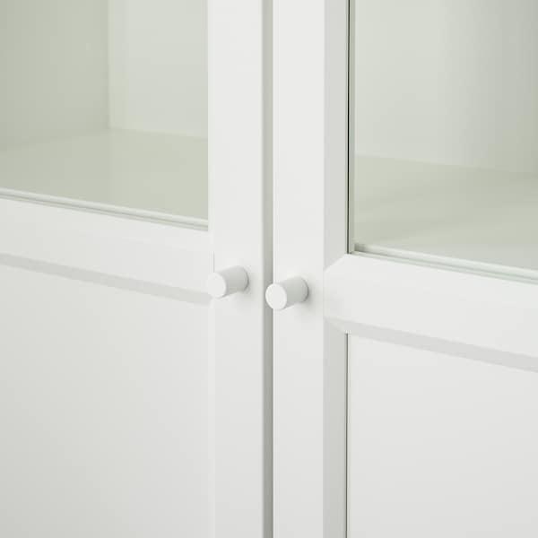 BILLY 毕利 带板/玻璃门书柜, 白色, 80x30x202 厘米