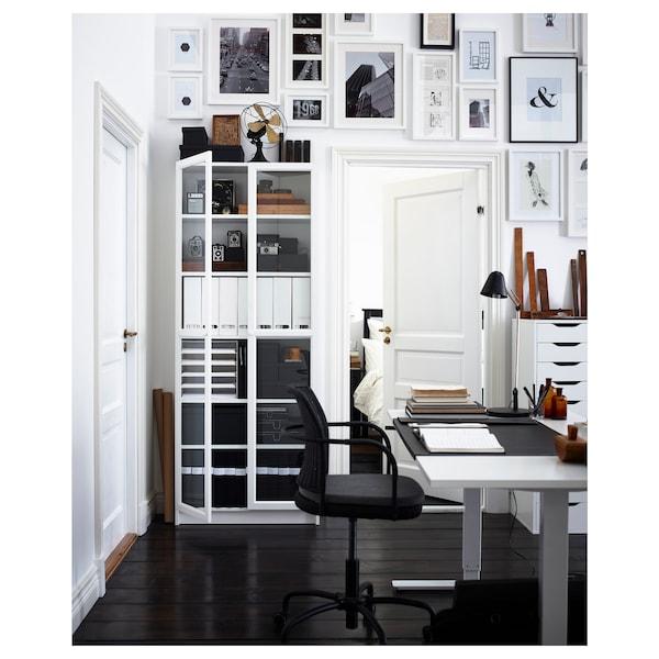 BILLY 毕利 / OXBERG 奥克伯 书架, 白色, 80x30x202 厘米
