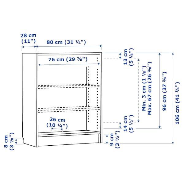 毕利 书架 褐色 白蜡木贴面 80 厘米 28 厘米 106 厘米 30 公斤