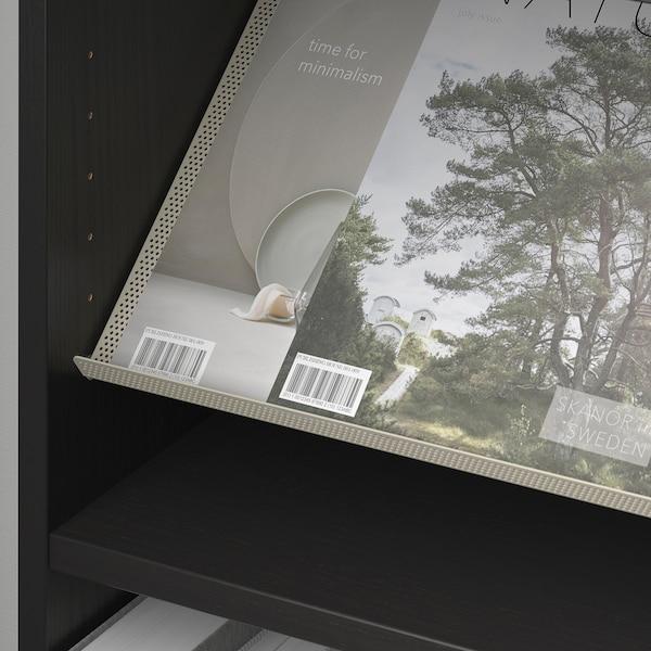 毕利 / 波特纳 书架带展示搁板 黑褐色/米黄色 80 厘米 28 厘米 202 厘米 30 公斤