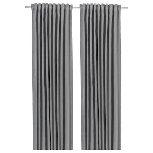 布落户瓦 窗帘,一对 淡灰色 250 厘米 145 厘米 2.69 公斤 3.63 平方米 2 件