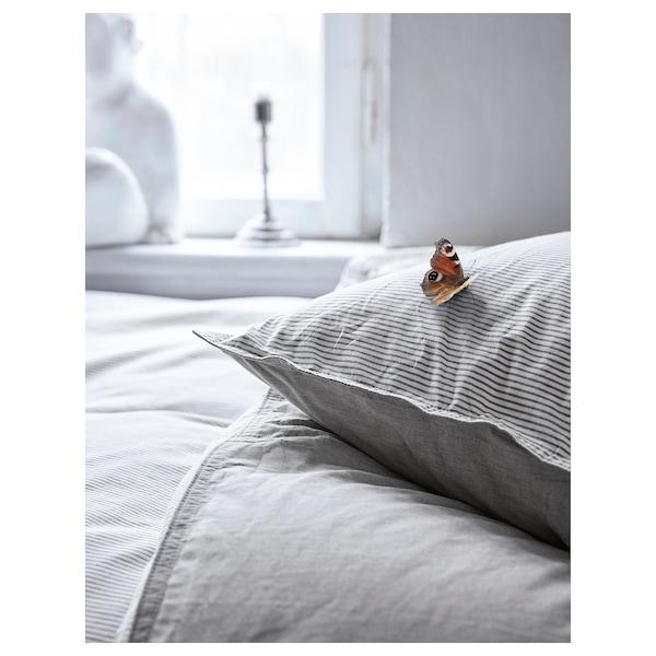 BLÅVINDA 布拉文达 被套和2个枕套, 灰色, 200x230/50x80 厘米