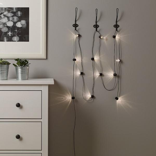 布洛斯诺 LED灯串12头 室内/电池操作 黑色 1.5 米 30 厘米 0.15 瓦特 4.8 米
